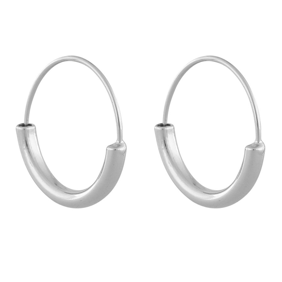 Snö Of Sweden Anglais Ring Earring ─ Plain Silver