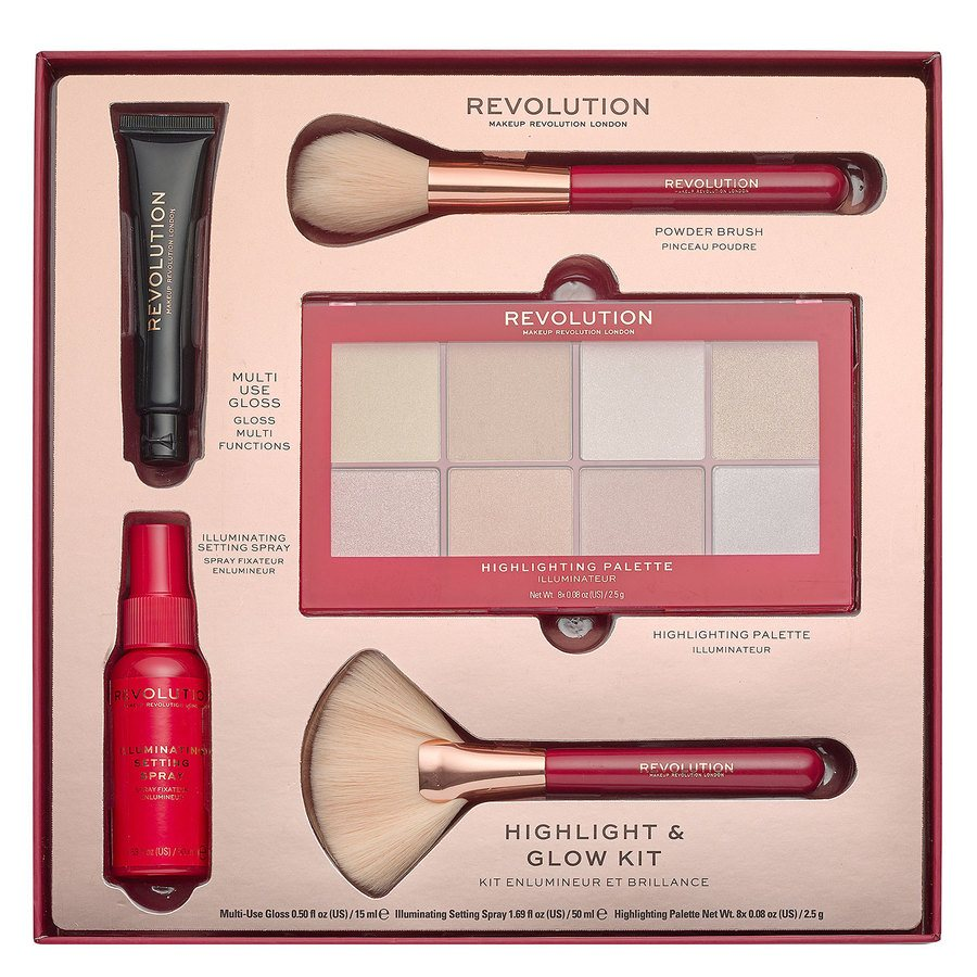 Makeup Revolution Highlight & Glow Kit Lahjapakkaus