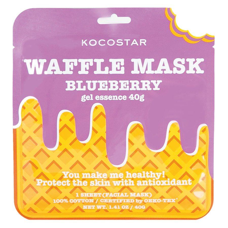 Kocostar Waffle Mask 40 g ─ Blueberry