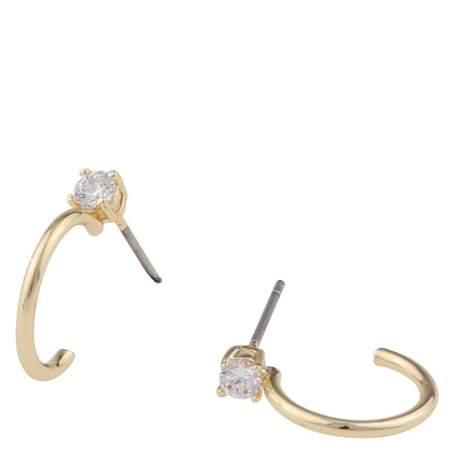 Snö Of Sweden Duo Small Ring Earring Gold/Clear