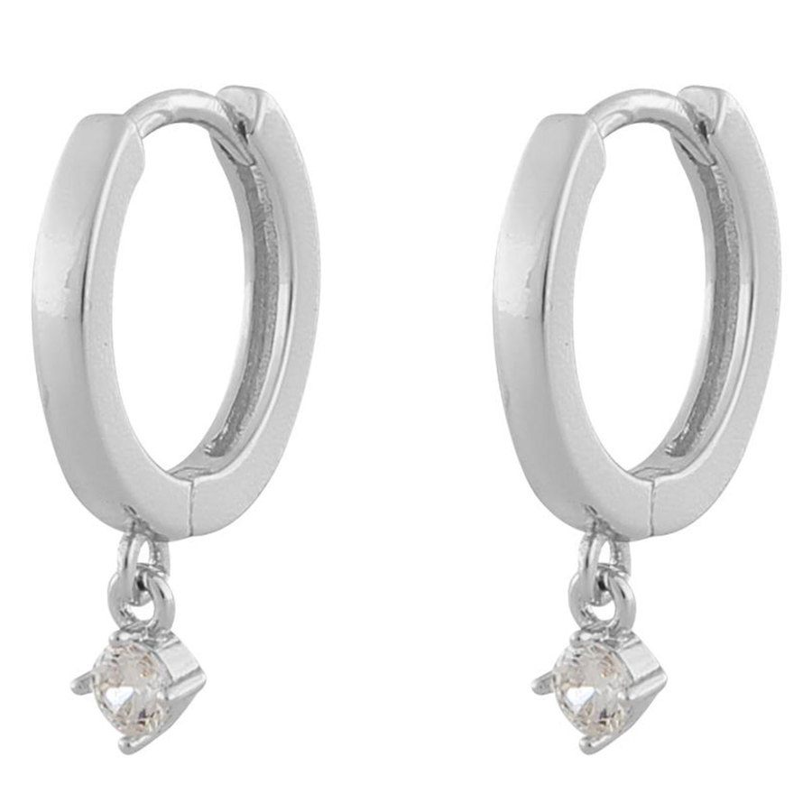 Snö Of Sweden Camille Small Ring Earring ─ Silver/Clear