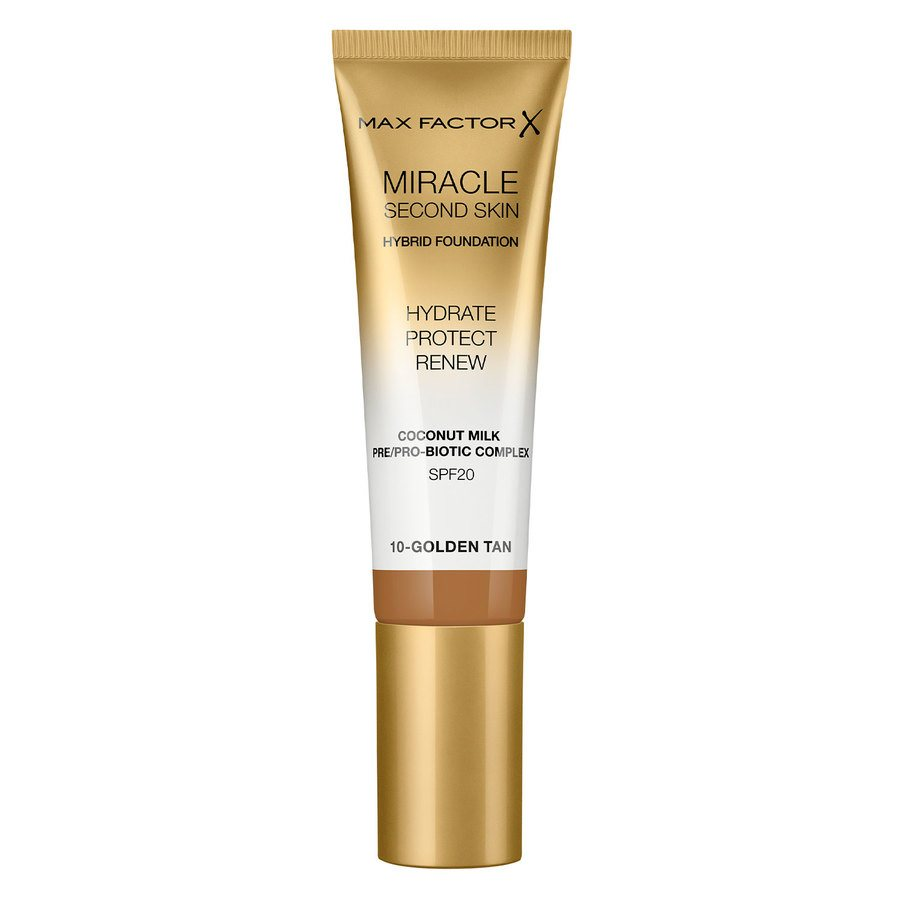 Max Factor Miracle Second Skin Foundation 33 ml ─ #010 Golden Tan