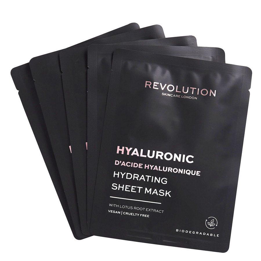 Revolution Beauty Revolution Skincare Biodegradable Hydrating Hyaluronic Acid Sheet Mask 5 kpl