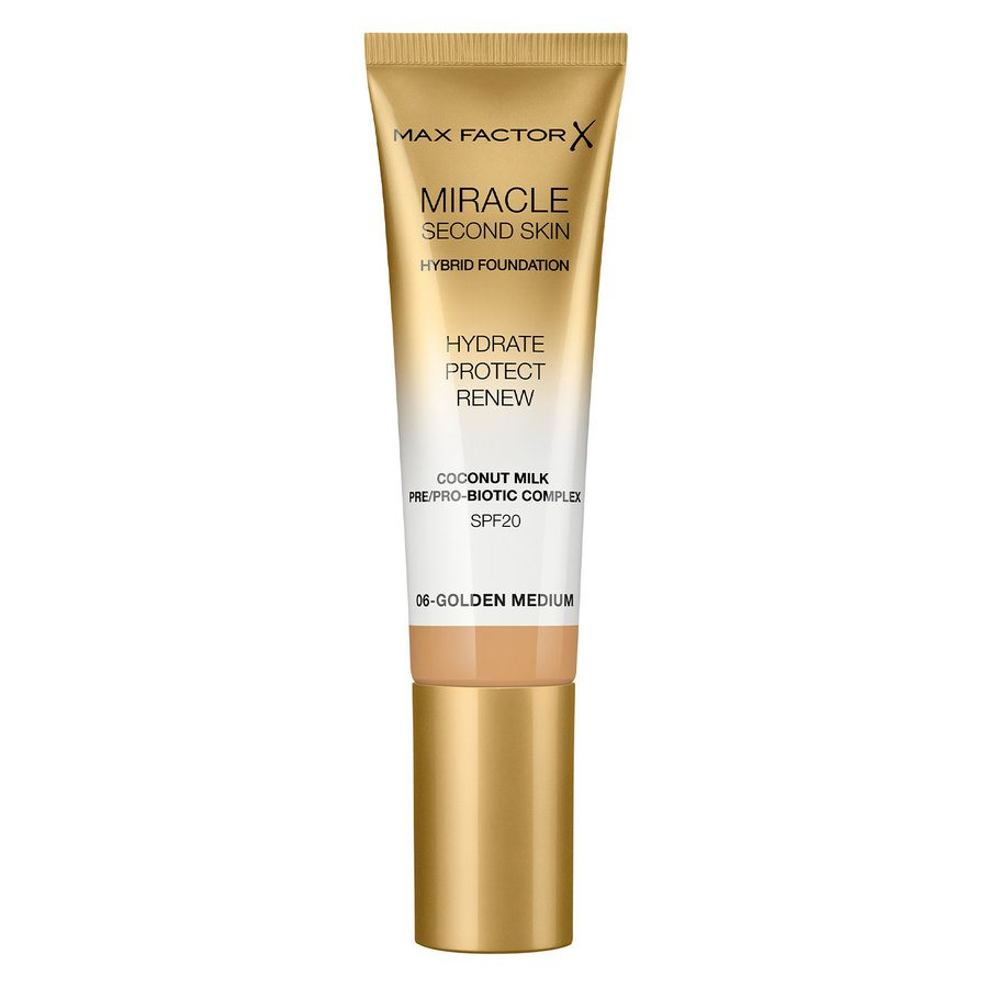 Max Factor Miracle Second Skin Foundation 33 ml ─ #006 Golden Medium