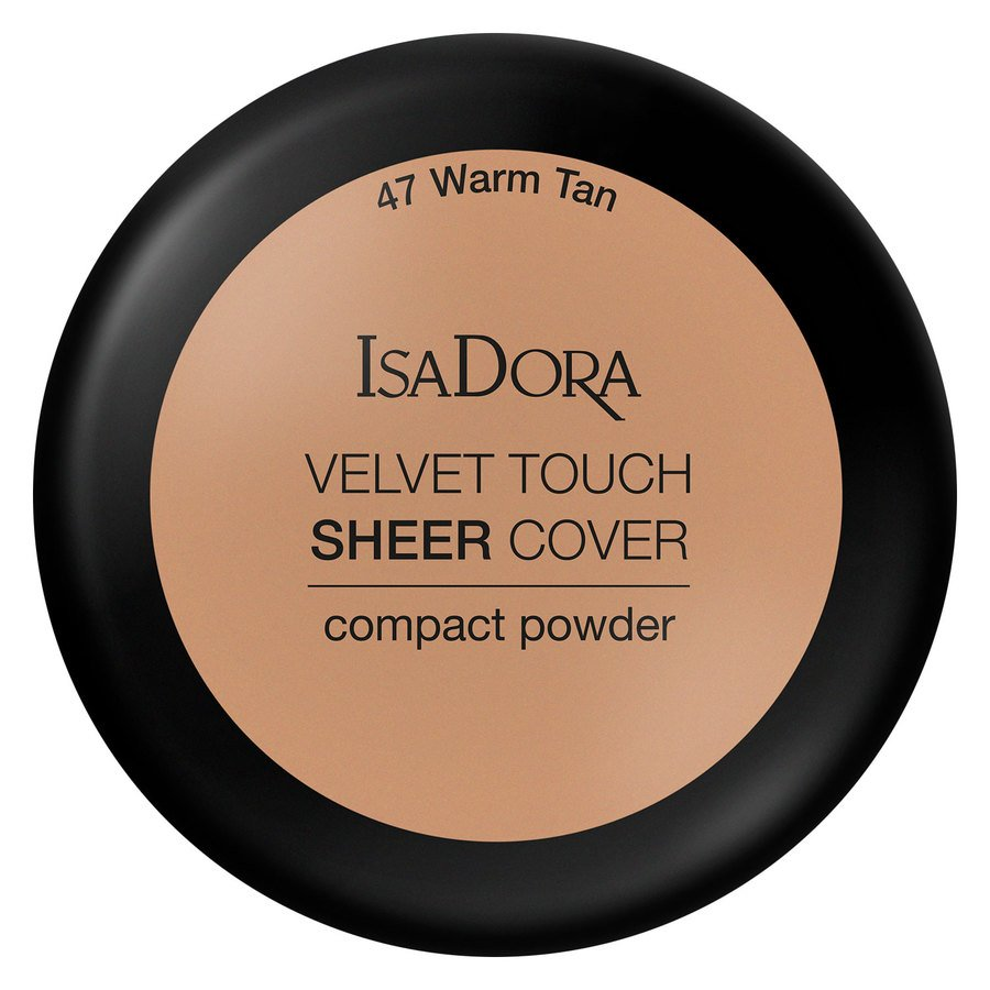 IsaDora Velvet Touch Sheer Cover Compact Powder 47 Warm Tan 10g