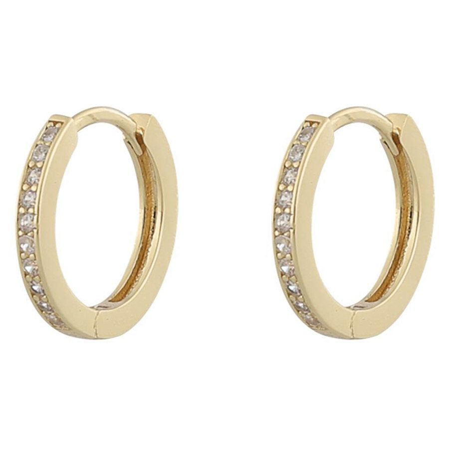 Snö Of Sweden Camille Ring Earring ─ Gold/Clear