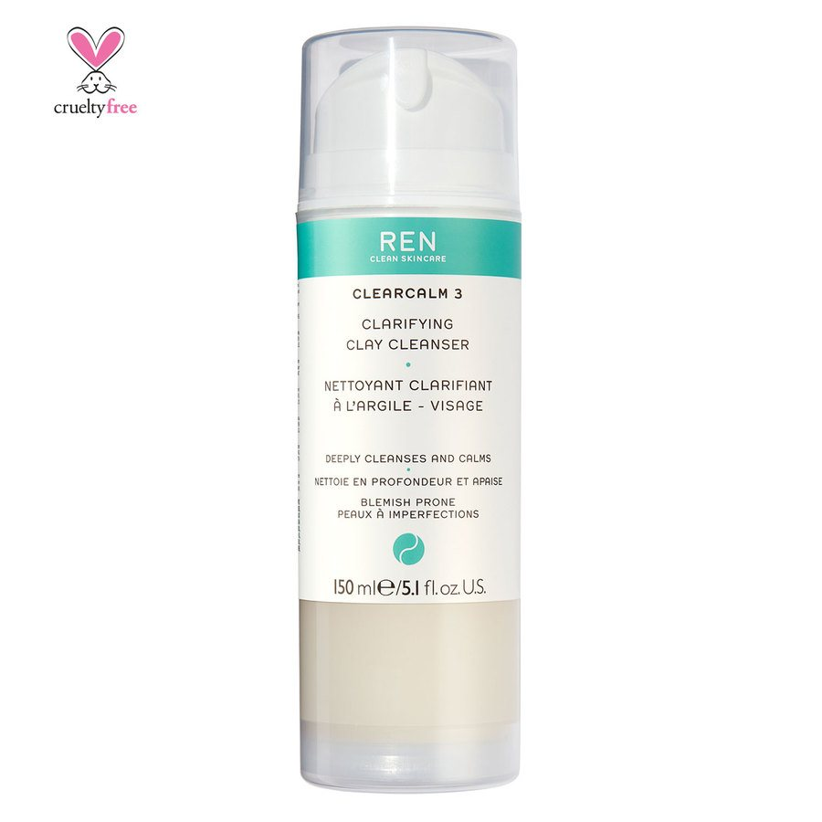 REN Clean Skincare Clearcalm 3 Clarifying Clay Cleanser 150 ml