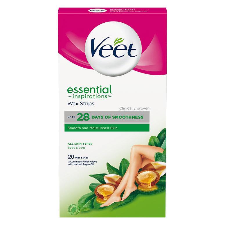Veet Essential Inspirations Wax Strips All Skin Types Body & Legs 20 kpl
