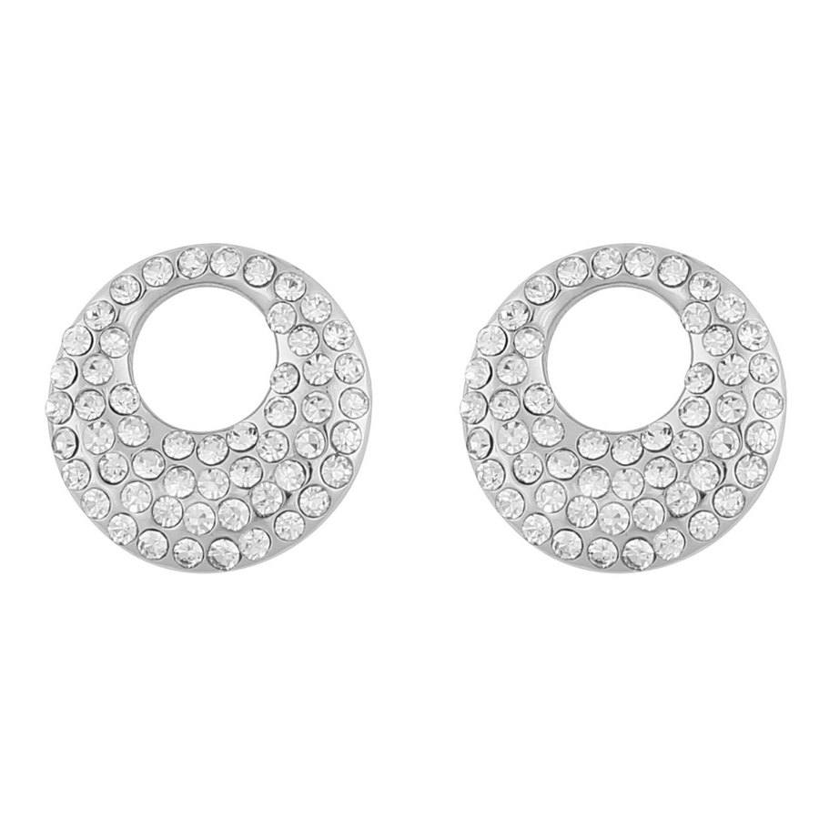 Snö Of Sweden Anglais Small Earring ─ Silver/Clear