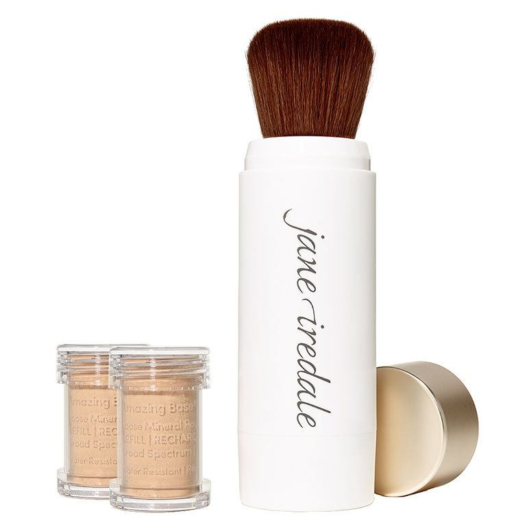 Jane Iredale Amazing Base Refillable Brush 2 x Refills – Honey Bronze
