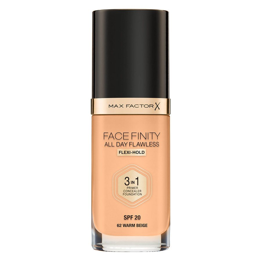 Max Factor Facefinity All Day Flawless 3-in-1 Foundation 30 ml – 62 Warm Beige