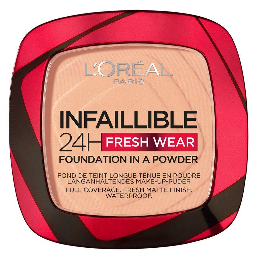 L'Oréal Paris Infaillible 24H Fresh Wear Foundation In A Powder 9 g – Golden Honey