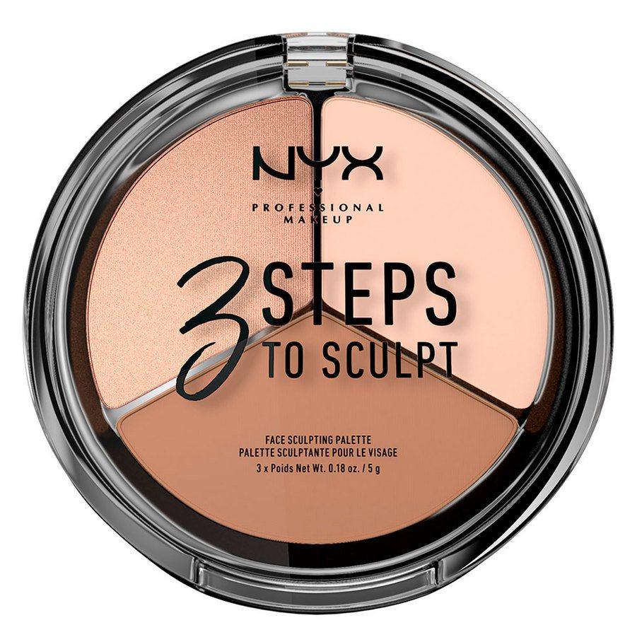 NYX Professional Makeup 3 Steps To Sculpt Face Sculpting Palette 5 g - Fair