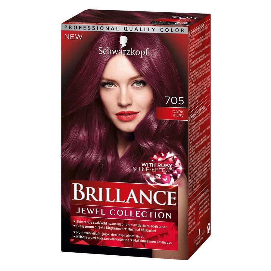 Schwarzkopf Brillance Intensive Color Creme ─ 705 Dark Ruby