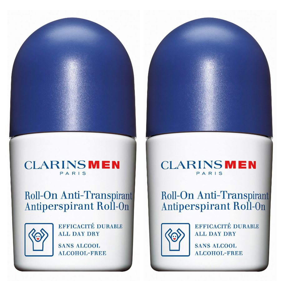 Clarins Men Antiperspirant Deo Roll-On Duo Pack 2 x 50 ml