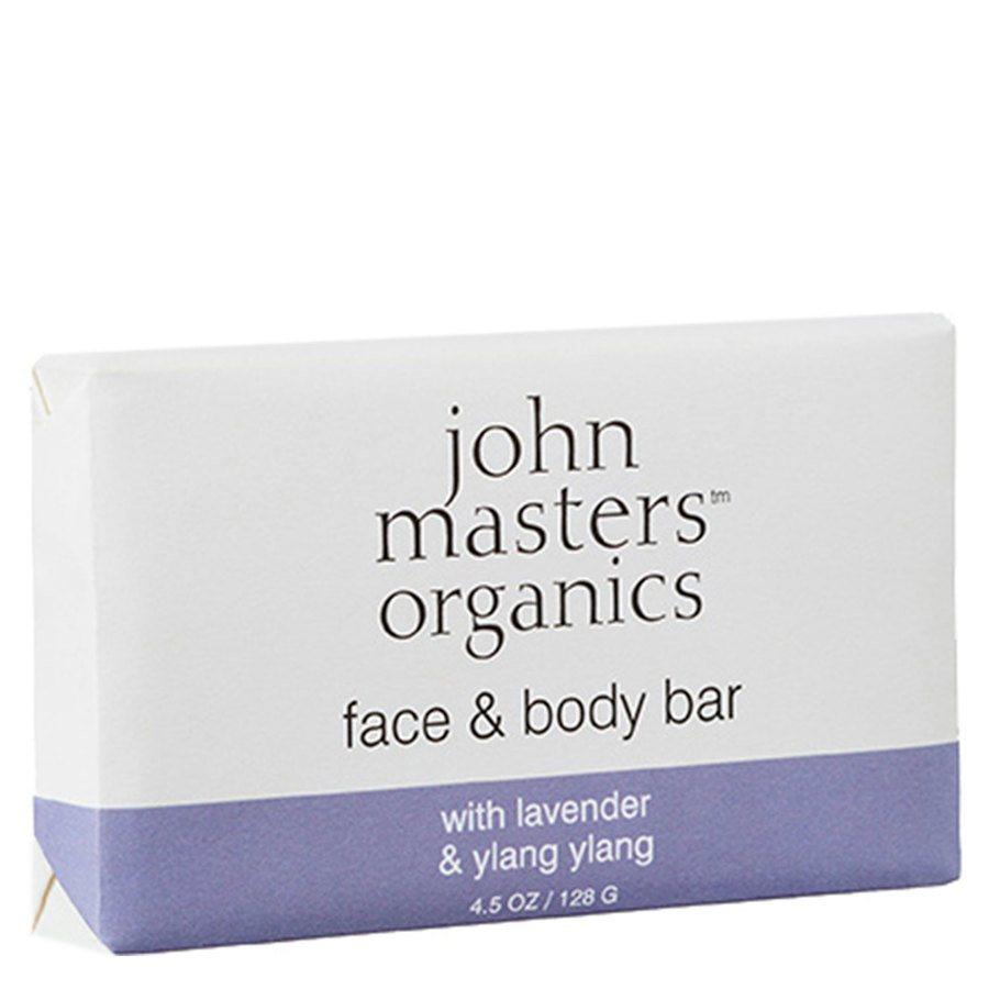 John Masters Organics Lavender, Rose Geranium & Ylang Ylang Soap 128 g