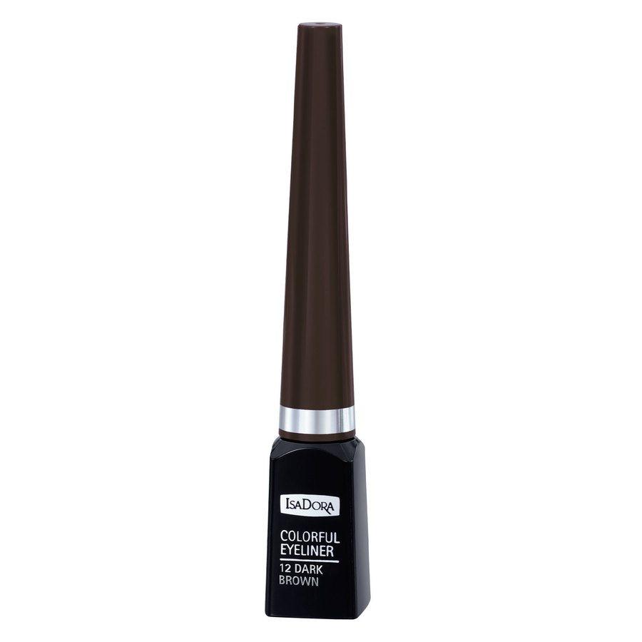 IsaDora Colorful Eyeliner 3,7 ml ─ #12 Dark Brown