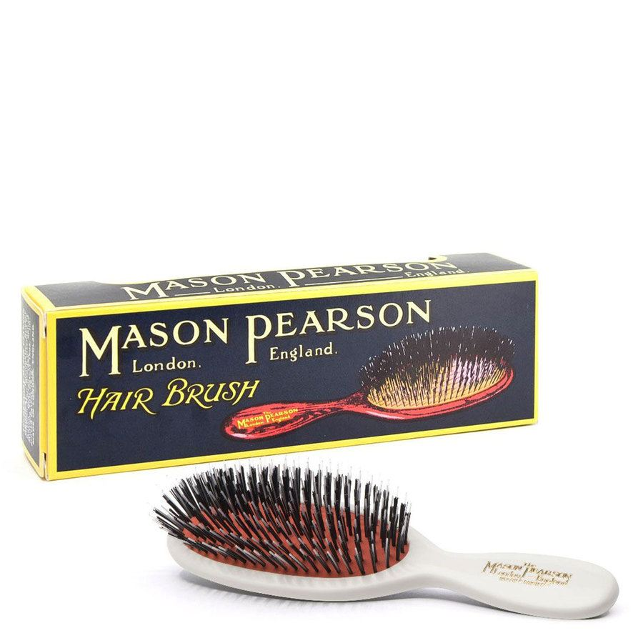 Mason Pearson Brush Bn4 Pocket - Bristle/Nylon- White
