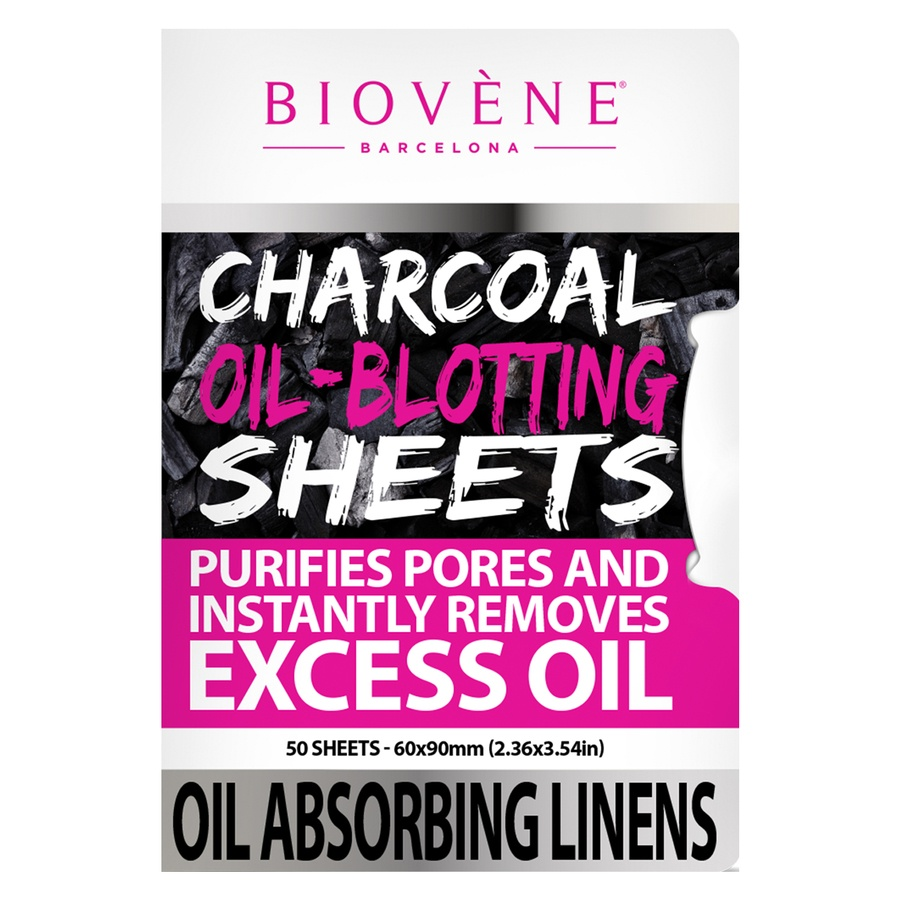 Biovène Charcoal Oil-Blotting Sheets 50 kpl