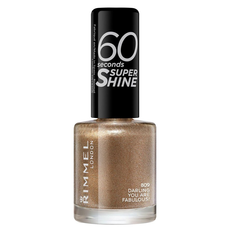 Rimmel London 60 Seconds Super Shine Nail Polish 8 ml ─ #809 Darling