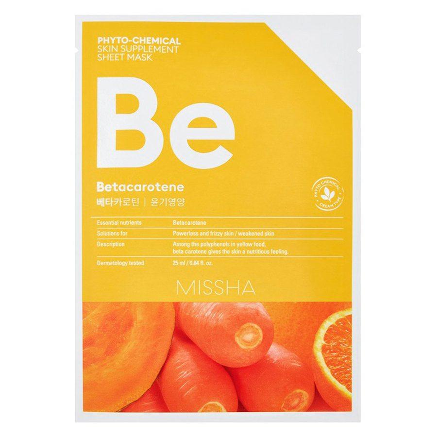 Missha Phytochemical Skin Supplement Sheet Mask Betacarotene 25 ml