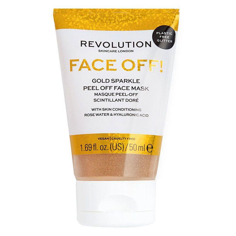 Revolution Skincare Gold Glitter Face Off Mask 50 ml