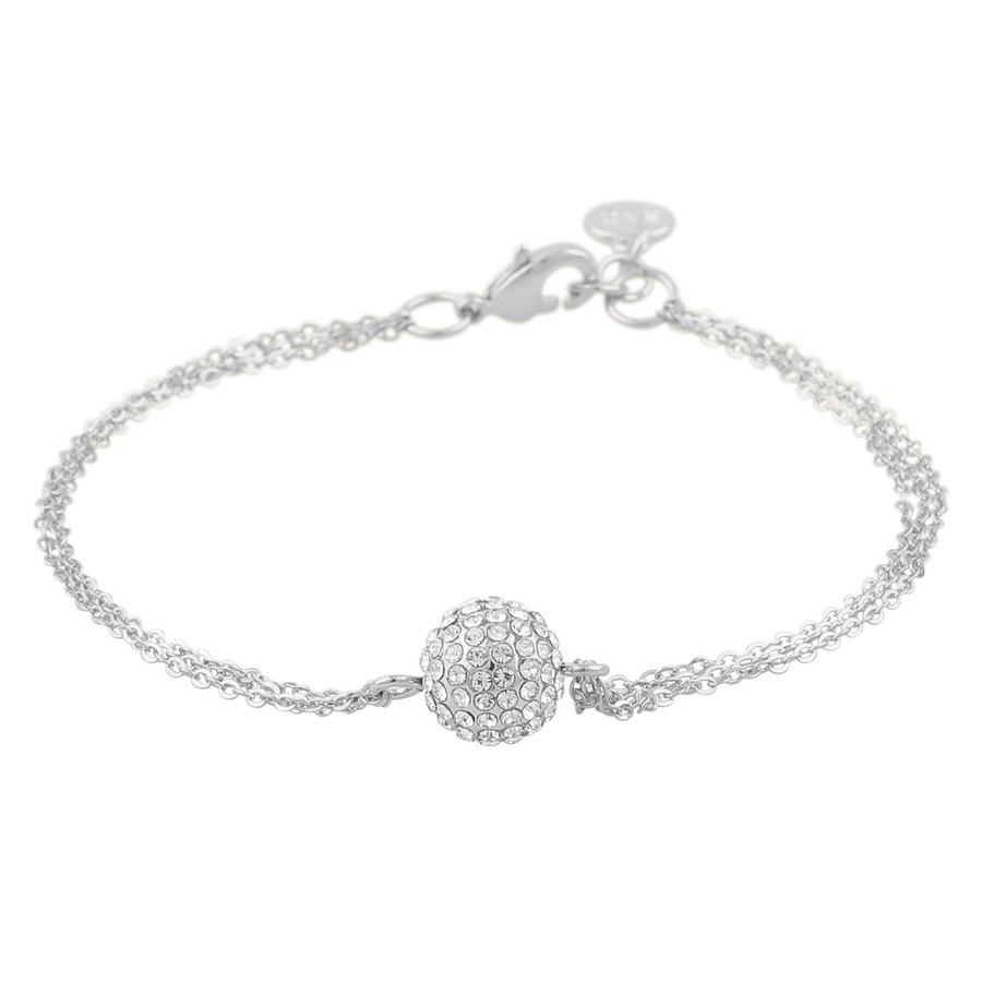 Snö Of Sweden Zin Chain Bracelet 3-string - Silver/Clear