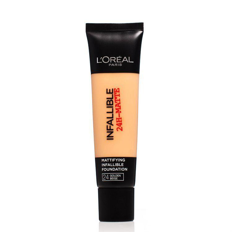 L'Oréal Paris Infallible 24h Matte Foundation 30 ml – 24 Golden Beige