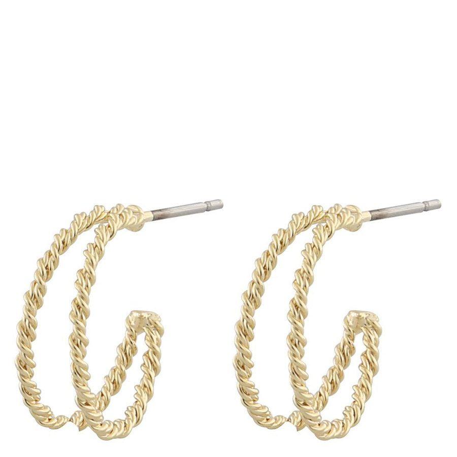 Snö Of Sweden Marion Small Ring Earring ─ Plain Gold