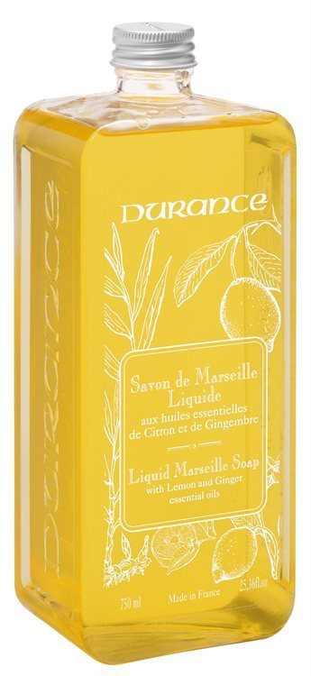 Durance Liquid Marseille Soap With Lemon and Ginger Refill 750 ml
