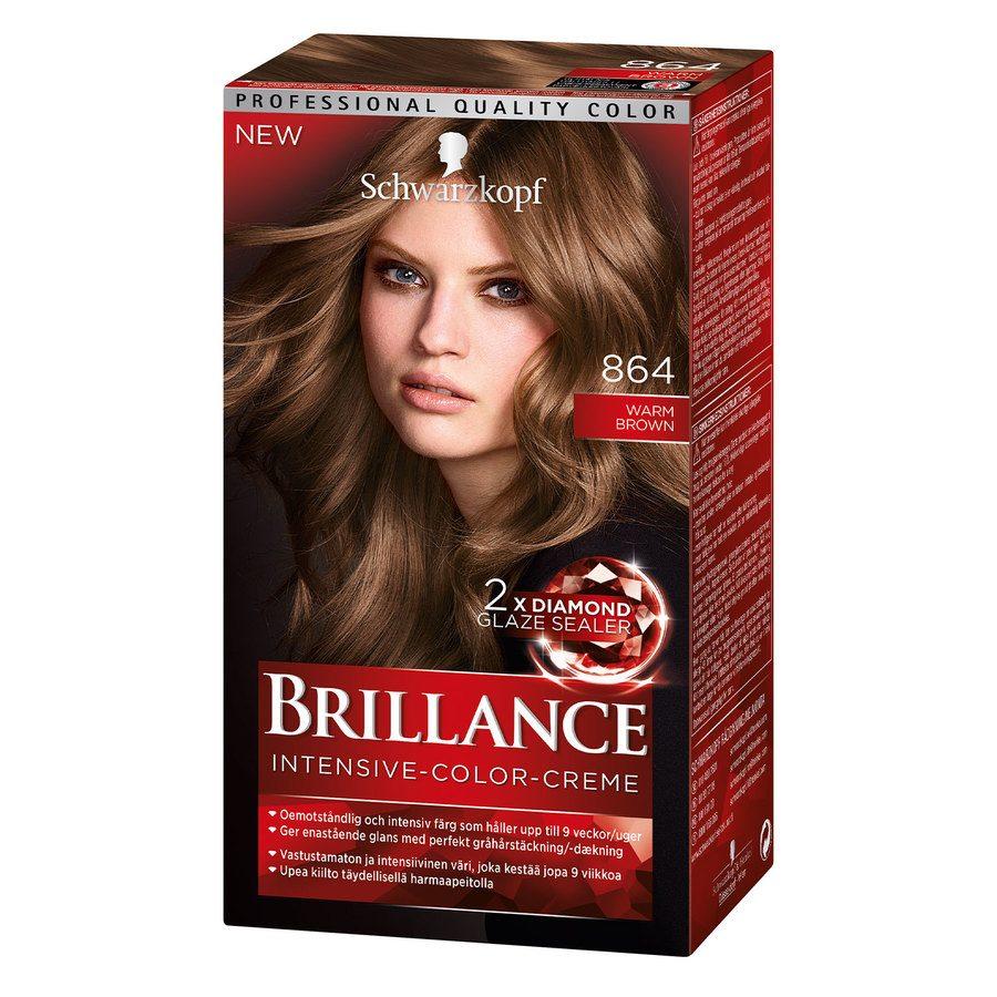 Schwarzkopf Brillance Intensive Color Creme ─ 864 Warm Brown