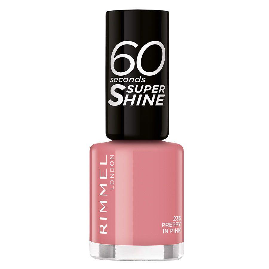 Rimmel London 60 Seconds Super Shine Nail Polish 8 ml ─ #235 Preppy In Pink