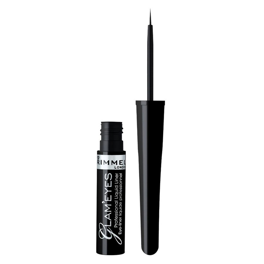 Rimmel London Glam'eyes Professional Liquid Liner 3,5 ml – 001 Black Glamour