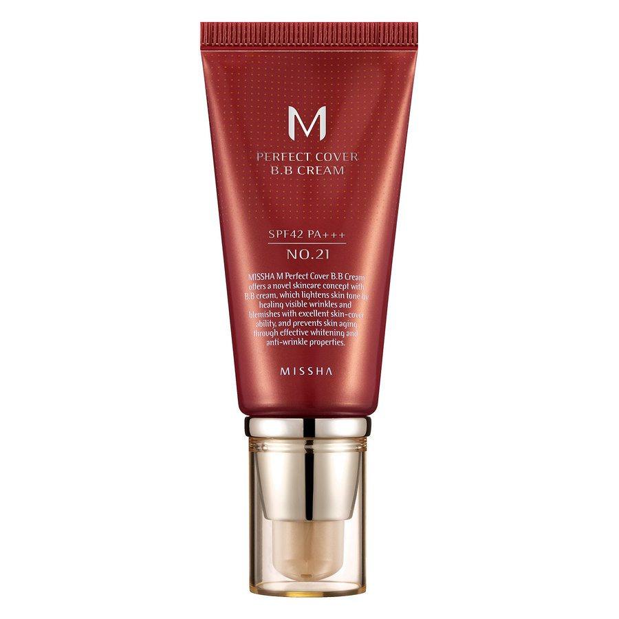Missha M Perfect Cover BB Cream SPF 42 PA+++ 50 ml – 21 Light Beige