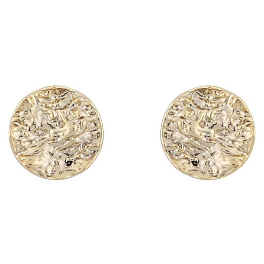 Snö Of Sweden Rue Small Coin Earring ─ Plain Gold
