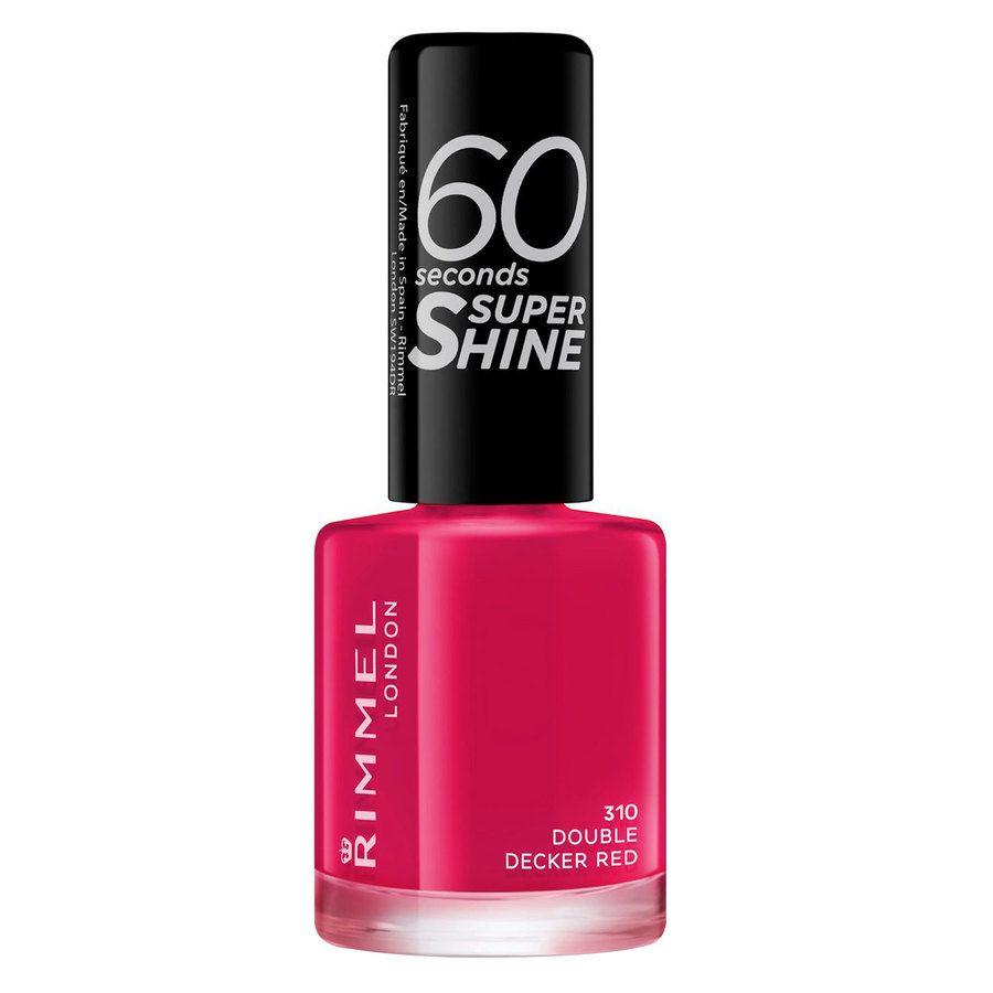 Rimmel London 60 Seconds Super Shine Nail Polish 8 ml ─ #310 Double Decker Red