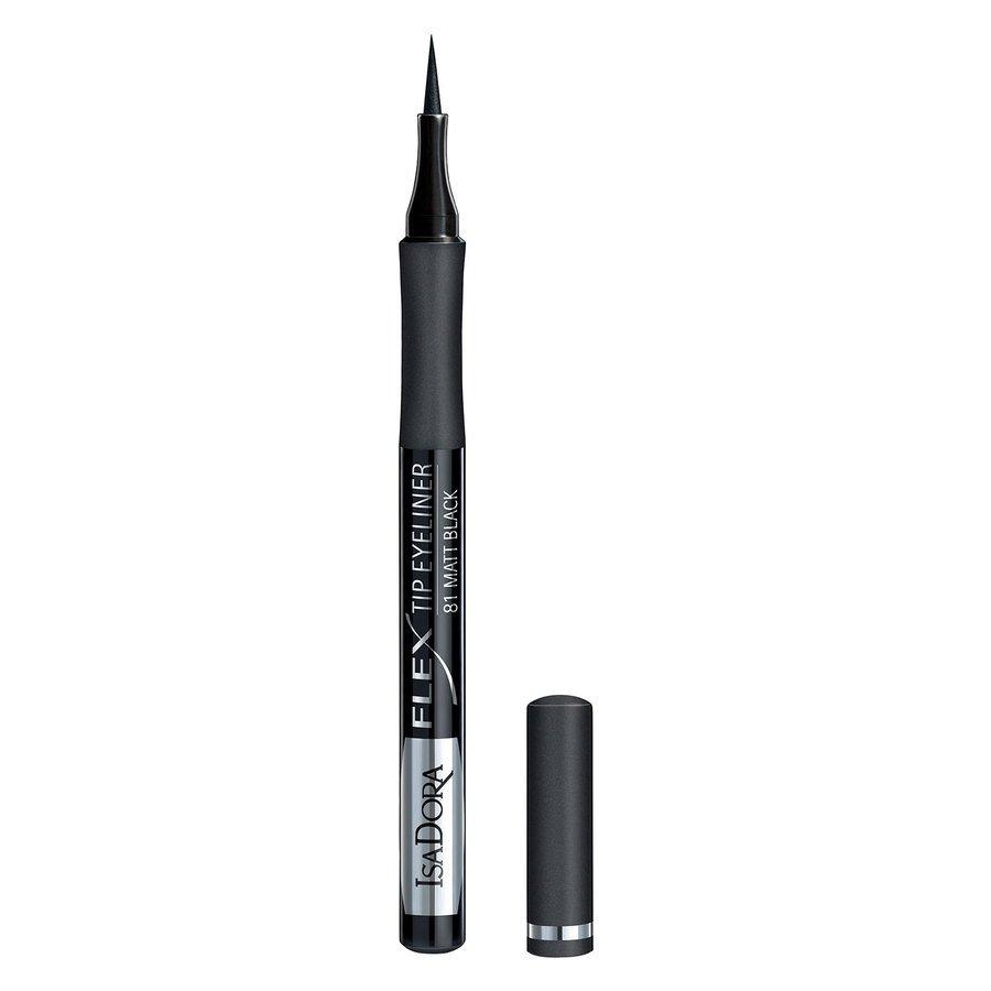 IsaDora Flex Tip Eyeliner 1,2 ml ─ #81 Matt Black