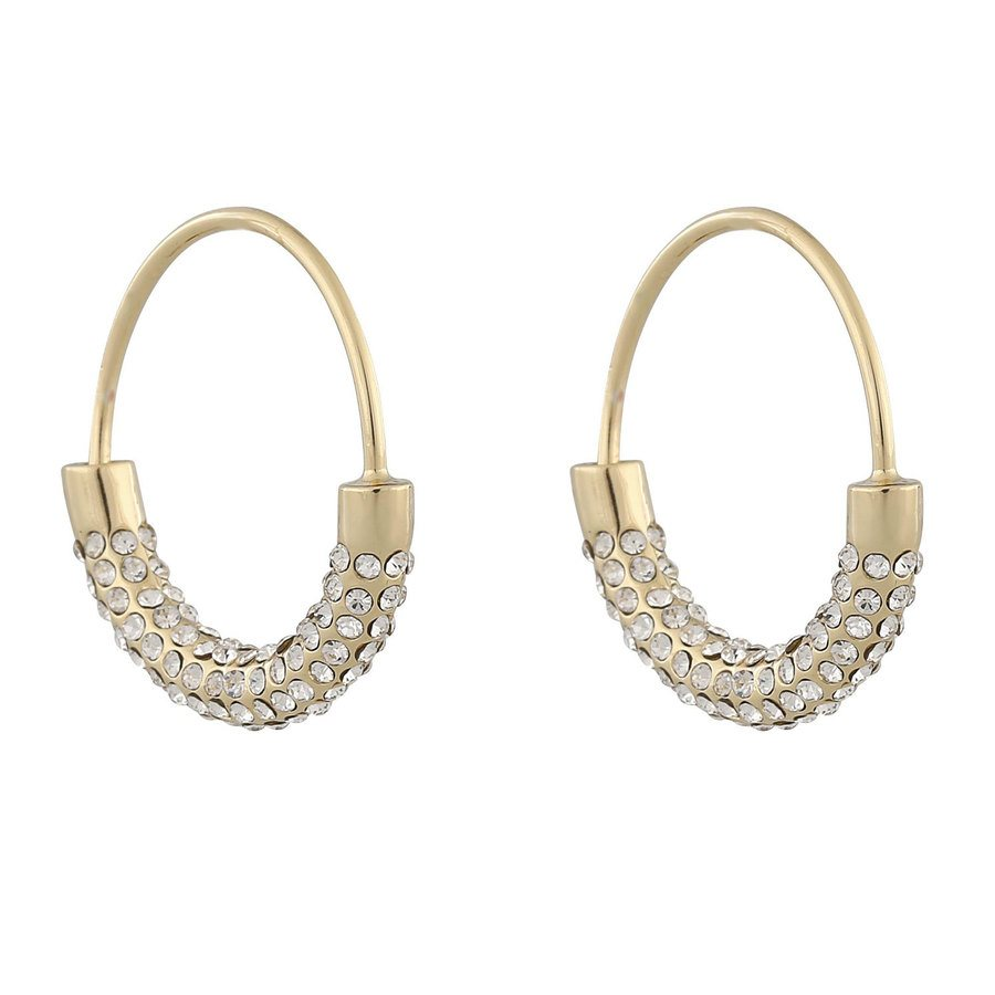 Snö Of Sweden Anglais Ring Earring ─ Gold/Clear