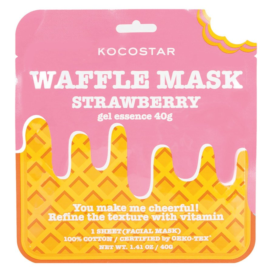 Kocostar Waffle Mask 40 g ─ Strawberry