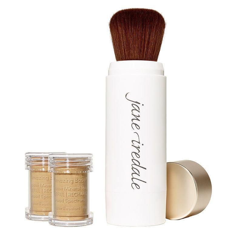 Jane Iredale Amazing Base Refillable Brush 2 x Refills – Latte