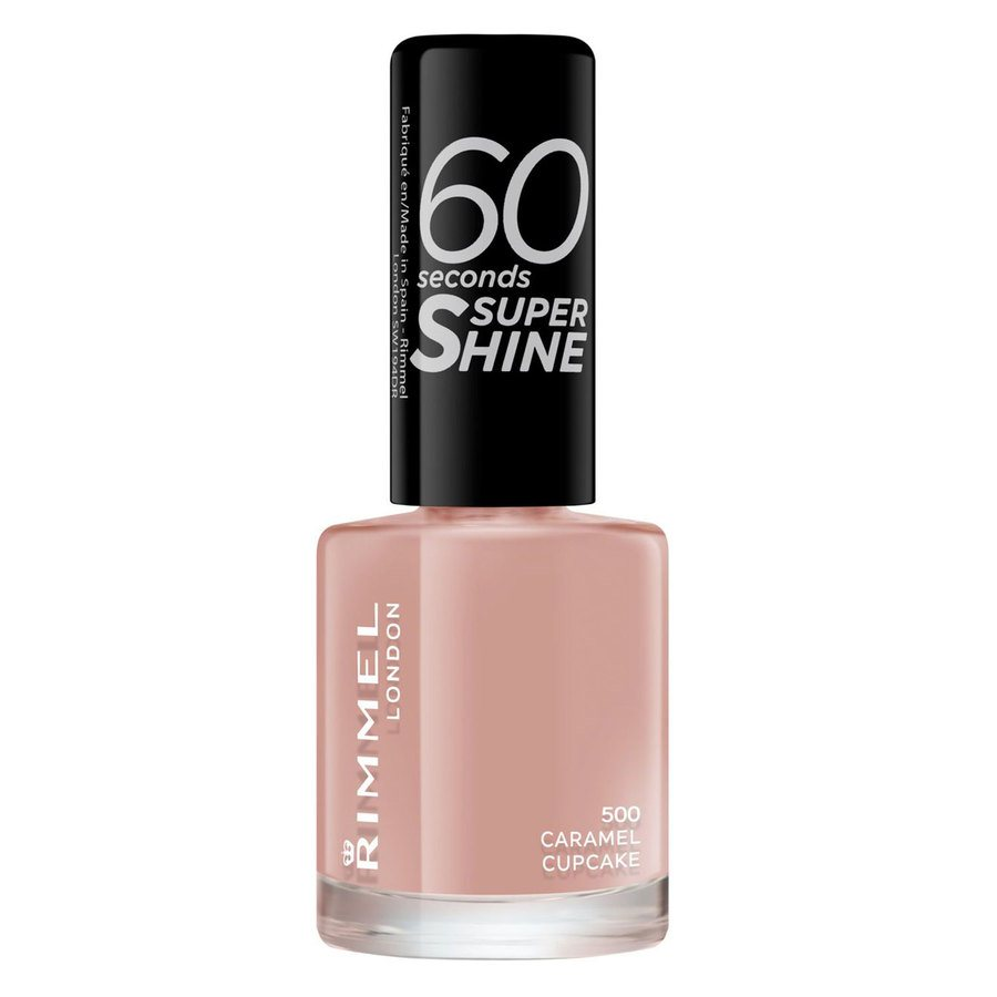Rimmel London 60 Seconds Super Shine Nail Polish 8 ml ─ #500 Caramel Cupcake