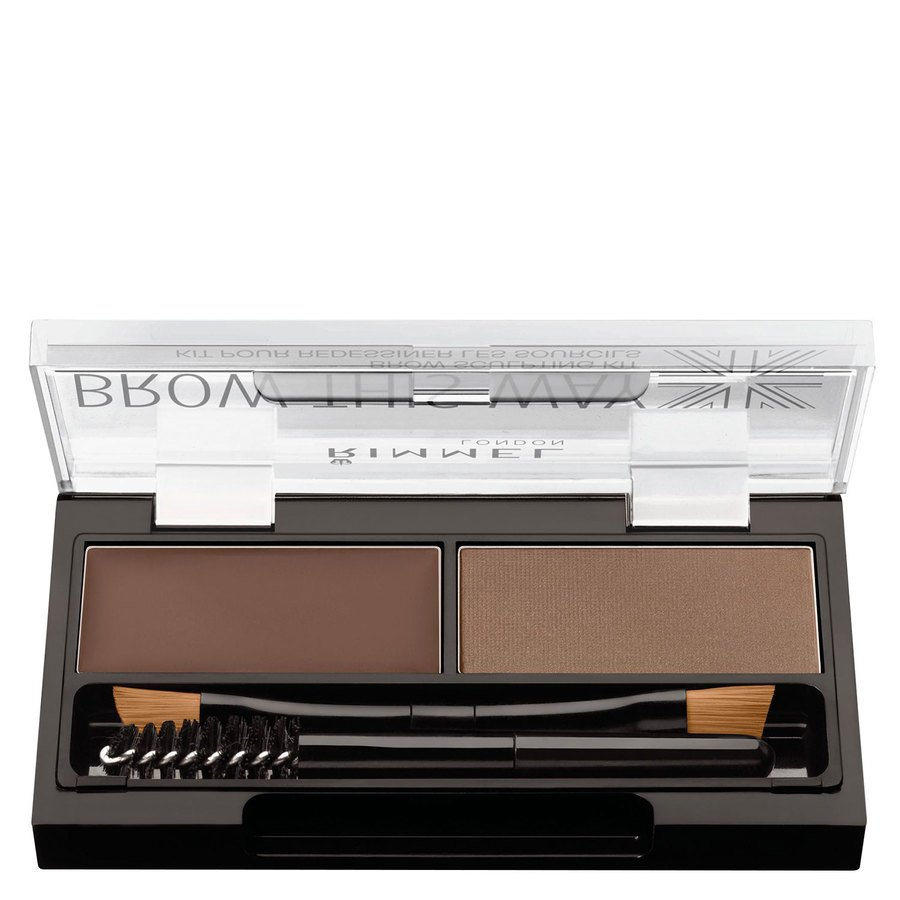 Rimmel London Brow This Way Eyebrow Powder Kit ─ Medium Brown