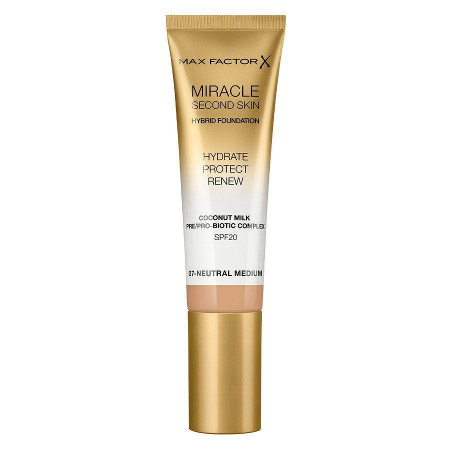 Max Factor Miracle Second Skin Foundation 33 ml ─ #007 Neutral Medium