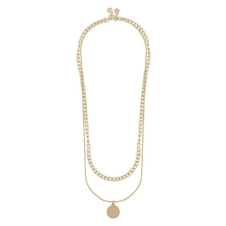Snö Of Sweden Patrice Necklace Set 45 cm – Plain Gold