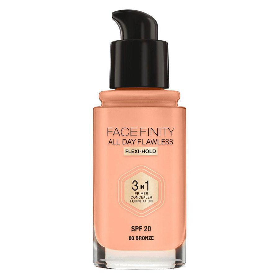 Max Factor Facefinity All Day Flawless 3-in-1 Foundation 30 ml – 80 Bronze
