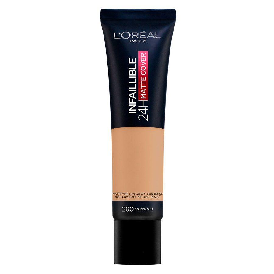L'Oréal Paris Infaillible 24H Matte Cover 30 ml – 260 Golden Sun