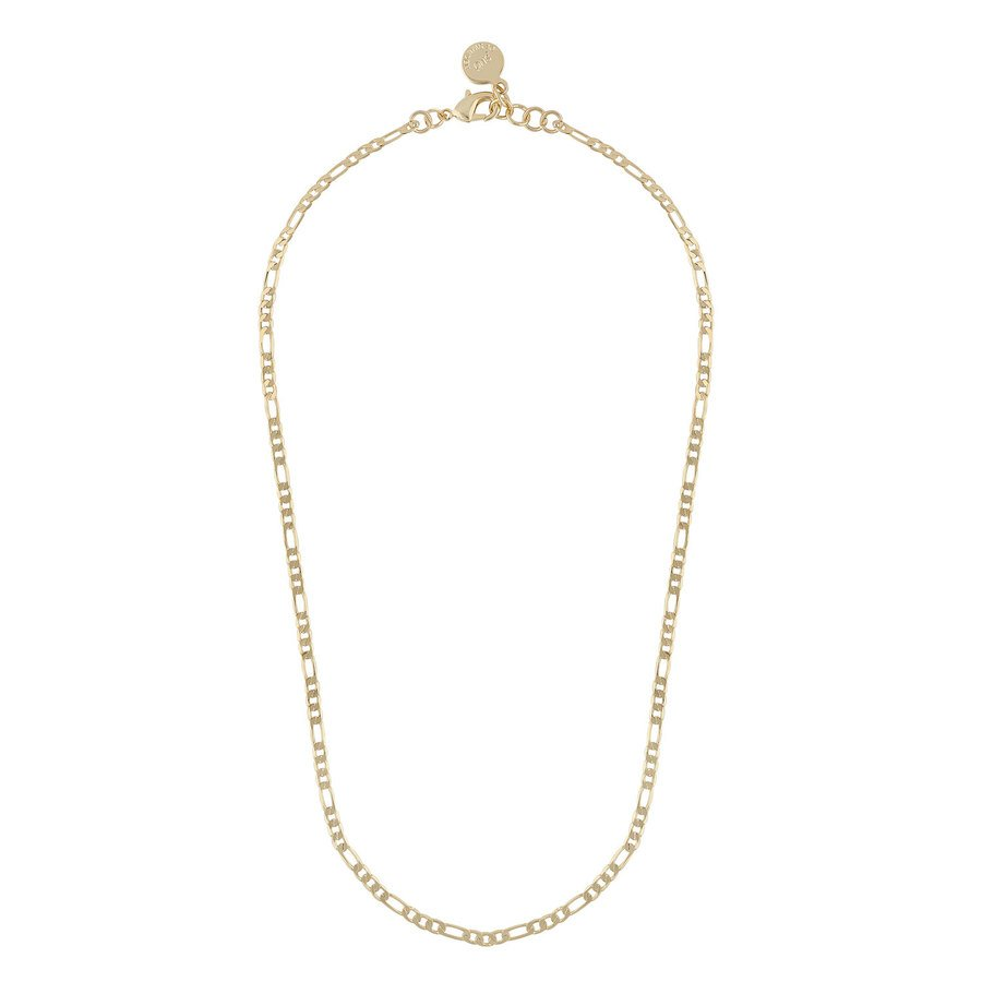Snö Of Sweden Anchor Small Chain Necklace 42 cm ─ Plain Gold