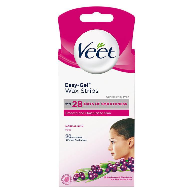 Veet Easy-Gel Cold Wax Strips Face 20 kpl