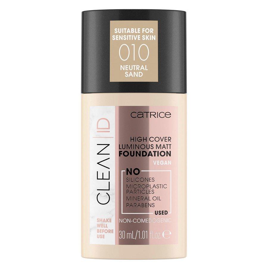 Catrice Clean ID High Cover Luminous Matt Foundation 30 ml – Neutral Sand 010