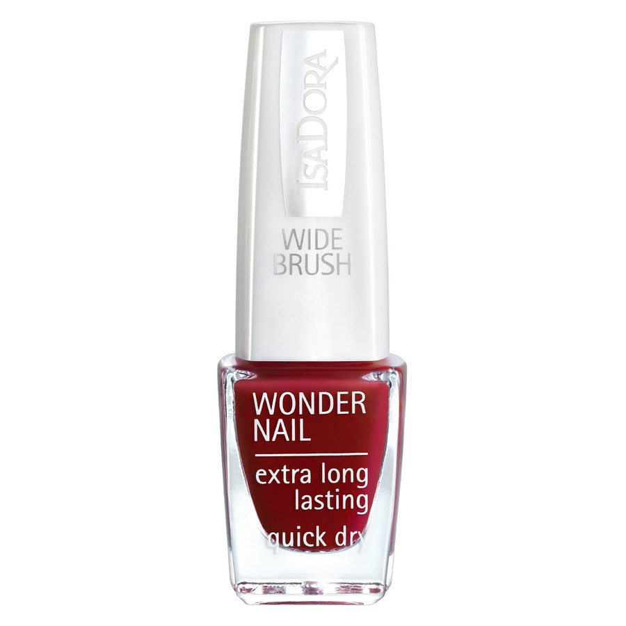 IsaDora Wonder Nail Wide Brush 6 ml ─ #565 Red at Heart